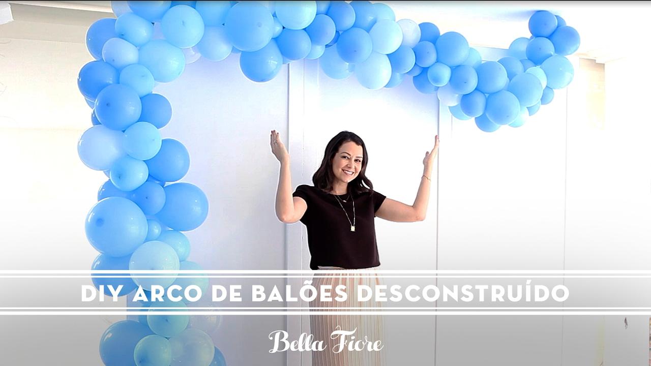 DIY Arco De Balões Desconstruído Super Tend u00eancia Para Festas Lindas! [Passo a passo] YouTube -> Decoração Com Balões Como Fazer Passo A Passo