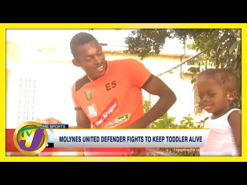 Jamaican Football Defender Fights to Keep Son Alive | TVJ Sports