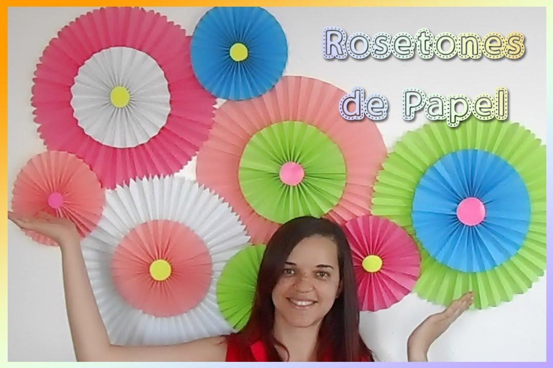 Rosetones de papel diy youtube - Como hacer colores ...