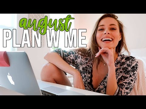 August PLAN W ME  finances work mental & physical health