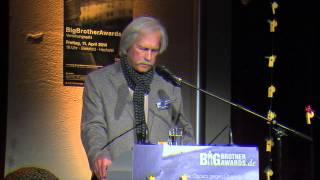 BigBrotherAwards 2014 Teil 1/13: Bundeskanzleramt (u.a. A. Merkel), Laudator: Rolf Gössner BBA14