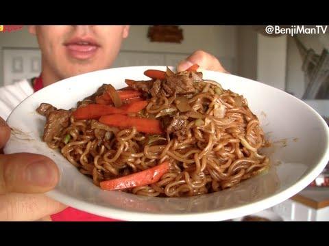 Yakisoba Recipe and Tutorial (How to cook)- BenjiManTV ...