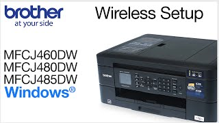 MFCJ460DW MFCJ480DW MFCJ485DW – wireless setup - Windows® Version