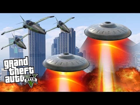 ALIEN UFO INVASION! (GTA 5 Mods)