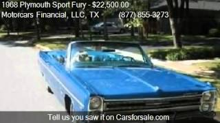 1968 Plymouth Sport Fury  for sale in Headquarters in Plano,