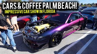 Biggest Cars & Coffee I've been to! (Palm Beach)