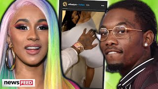 Cardi B Spotted KISSING Offset At Her Birthday Party!