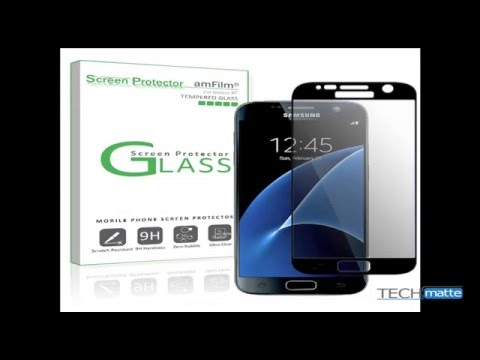 Samsung Galaxy S7 Full Screen Coverage Tempered Glass amFilm Bye-Bye Bubble Screen Protector Guide