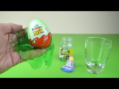 Kinder Surprise Egg Covered With Green Slime Teen Idols Treasure Surprise Chest