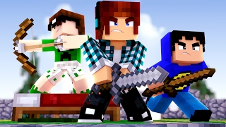 Minecraft - DEFENDA SUA CAMA COM O TAZERCRAFT !! (Bed Wars)