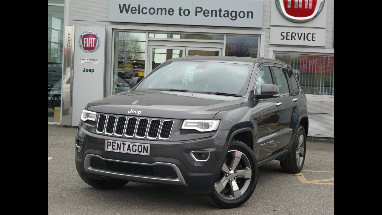 2015 15 jeep grand cherokee 3 0 crd limited plus 5dr auto in grey youtube. Black Bedroom Furniture Sets. Home Design Ideas