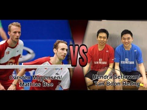 Hendra Setiawan- Tan Boon Heong vs Mathias Boe - Carsten Mogensen - 2017 Syed Modi QF