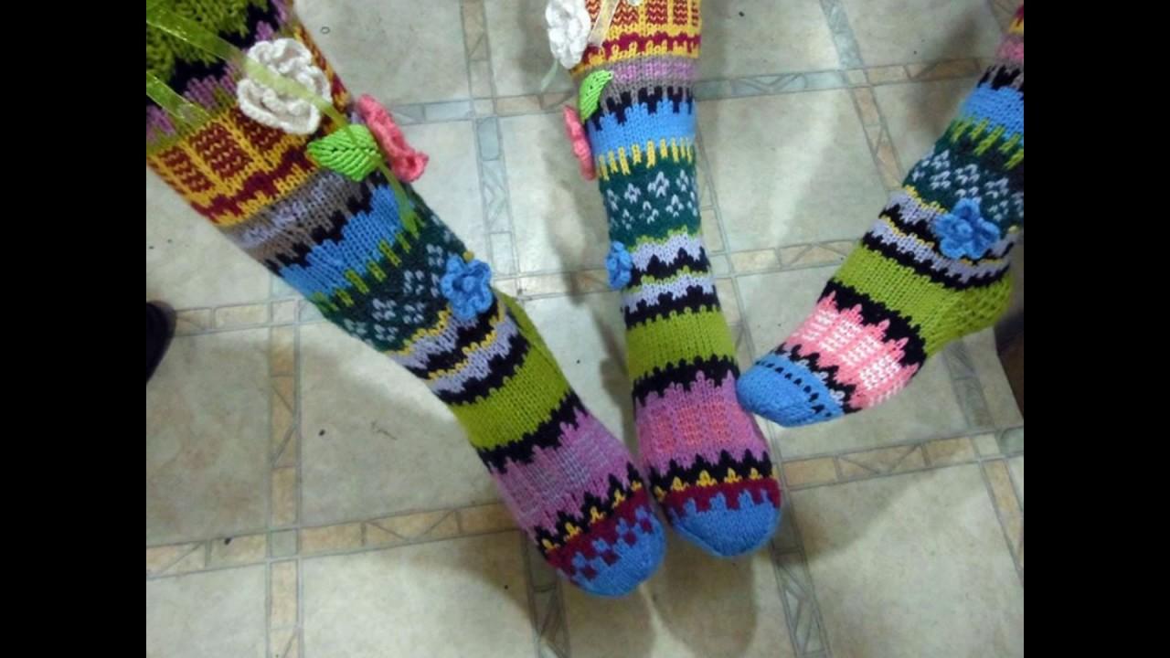 Knee High Socks Handmade By Kate Nikolova Youtube