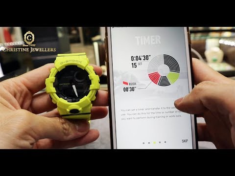UNBOXING G-SHOCK BLUETOOTH GBA800 STEP TRACKER FITNESS WATCH GBA800-9A
