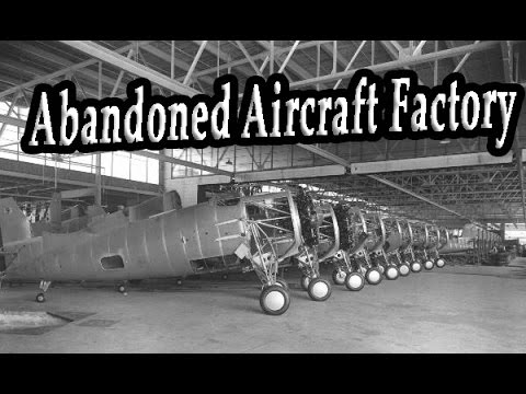 Old Abandoned Aircraft Factory. Abandoned Military Aircraft Wreck. Abandoned Places & Factory