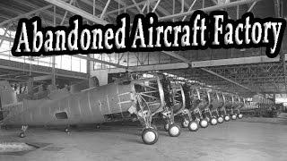 Old Abandoned Aircraft Factory. Abandoned Military Aircraft Wreck. Abandoned Places & Factory