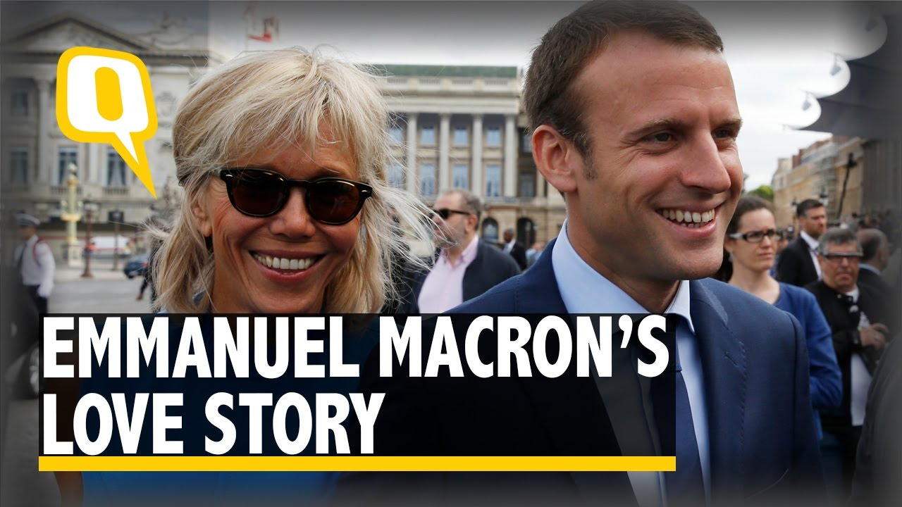 The Quint Emmanuel Macron And His Wife Brigitte S Love Story Is One For The Books Youtube