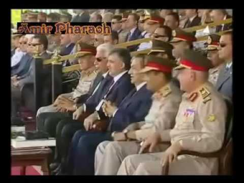 The largest military parade silent Egyptian army