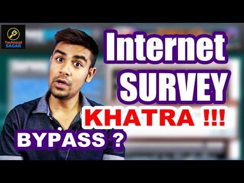 INTERNET PAR SURVEY | BYPASS SURVEY & DOWNLOAD FILES | KHATRA !!