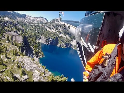 Police Helicopter Rescue From Remote Lake