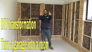 How To Convert A Garage Into A Room Diy Transformation Youtube