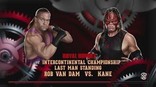 WWE 2K15 Universe - Royal Rumble - Rob Van Dam vs Kane Last Man Standing (Xbox One/PS4)