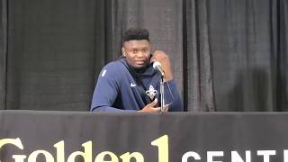 Zion Williamson on playing games without fans in empty arenas