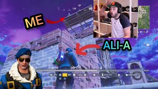 I KILLED ALI-A IN FORTNITE BATTLE ROYALE (BOTH POV) IN OG/OLD TILTED TOWERS!