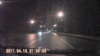 Пример видео с ES190 ночь, мокрая трасса (после обработки)(, 2011-04-22T17:14:43.000Z)