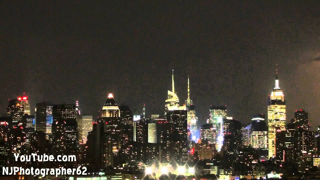 Lightning Storm Over New York City