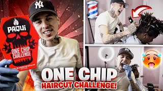 ONE CHIP CHALLENGE 🥵  I ATE THE WORLDS HOTTEST CHIP AND DID A HAIRCUT! 💈   VICBLENDS 🔥