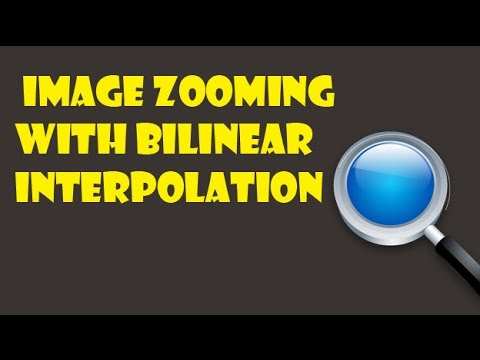 Image Zooming with Bilinear Interpolation in MATLAB