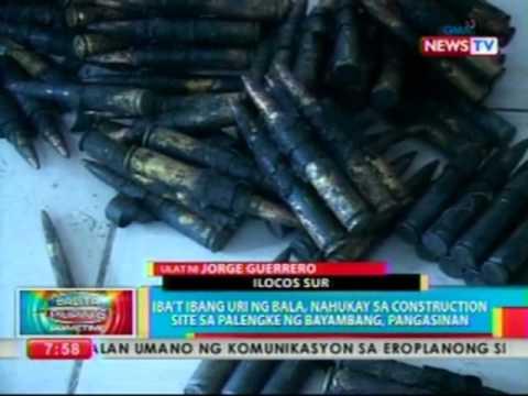 Iba't Ibang Uri Ng Bala, Nahukay Sa Construction Site Sa Palengke Ng Bayambang, Pangasinan