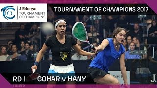 Squash: Gohar v Hany - Tournament of Champions 2017 Rd 2 Highlights