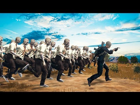 1 MAN vs. 99 ZOMBIES CHALLENGE! (PlayerUnknown's BattleGrounds Funny Moments)
