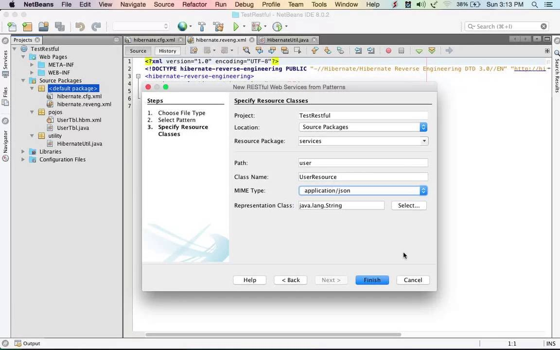 Simple Restful Web Service and Hibernate (CRUD)
