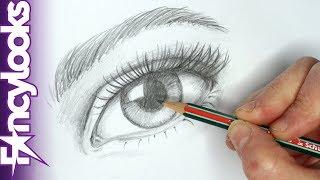 Cómo dibujar un ojo realista con lápiz - paso a paso