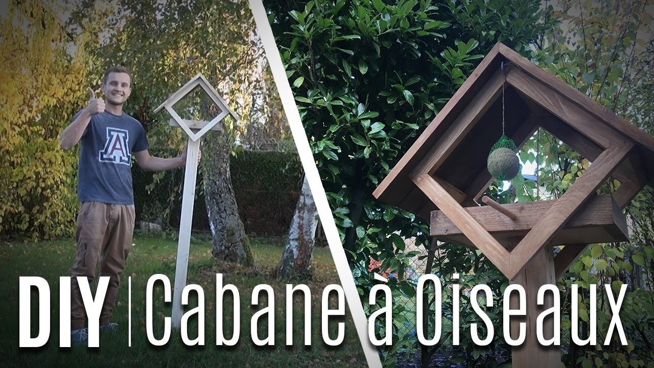 fabrication d 39 une cabane oiseaux en bois de palette youtube. Black Bedroom Furniture Sets. Home Design Ideas