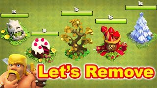 Removing Special Obstacles Clash of Clans Latest Update 2018 | Clash of Clans Obstacles