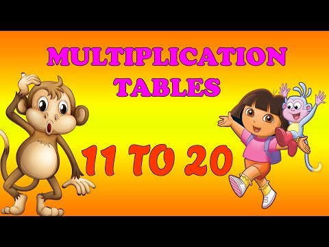 Multiplication Tables 11 to 20 | 11 to 20 Easy Table Learning Tips | Maths Tables From 11 to 20