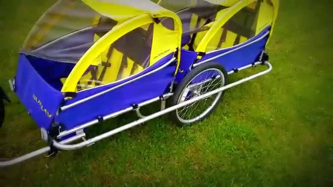 4 Seat Bike Trailer 4 Seater Youtube