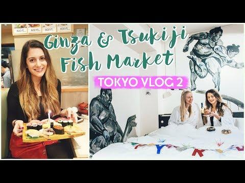 GINZA & TSUKIJI FISH MARKET Tokyo Vlog 2