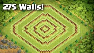 Clash of Clans - BEST Town Hall 10 Farming Base - 275 Walls - Anti-Earthquake [Hypercube]