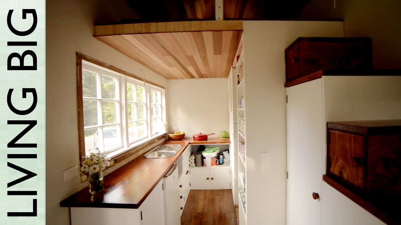 Stunning DIY CottageStyle Tiny House YouTube - Couple takes tiny house big adventure