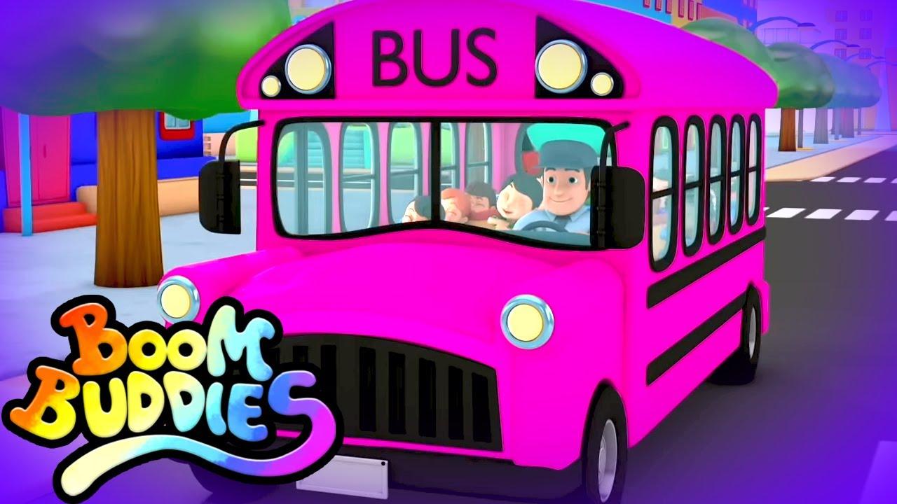 Ruedas en el bus   Rimas para niños   Educación   Boom Buddies Español   Dibujos animados