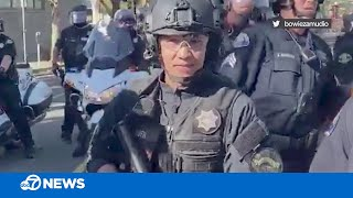 California police officer appears to taunt George Floyd protesters, is now under investigation