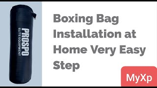 How to Fill Boxing Bag Punching Bag Kick Bag Boxing Bag Installation in Hindi