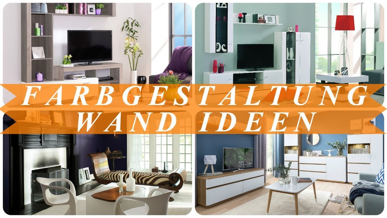 ideen zur wandgestaltung mit farbe youtube. Black Bedroom Furniture Sets. Home Design Ideas