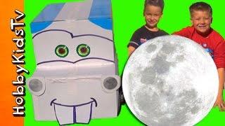 GIANT SURPRISE EGG Space Moon MATER + Lightening McQueen! HobbyKidsTV