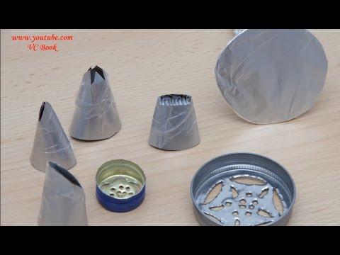 Насадки для крема своими руками | Украшение тортов кремом| Nozzles for creams | Часть 1